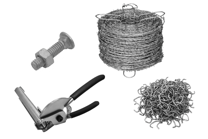 chain-link fence parts and tools