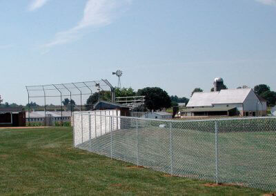 ball diamond chain link fence