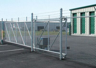 galvanized cantilever-sliding-gate
