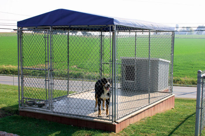 Quality chain link fencing products for sale from for Dog kennel in garage ideas