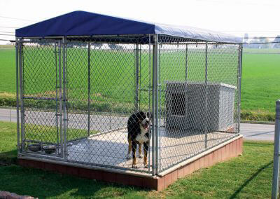 galvanized wire dog kennel