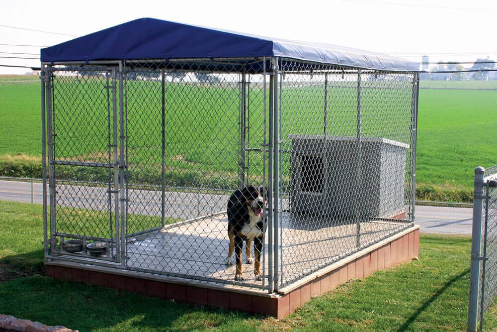 Quality chain link fencing products for sale from for Puppy dog kennels