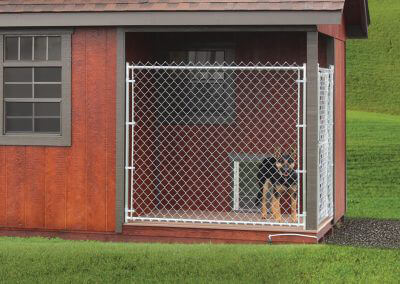 custom chain link shed panels