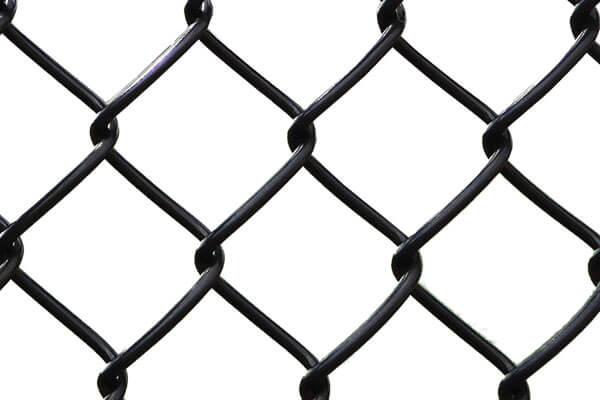black vinyl coated chain link wire