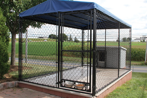 powder coated wire dog kennel
