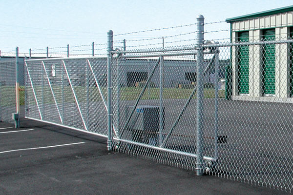 cantilever chain-link fence gate