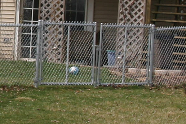 double chain link fence gates
