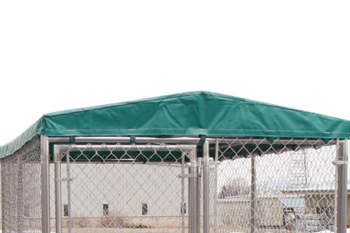 awning on dog kennel